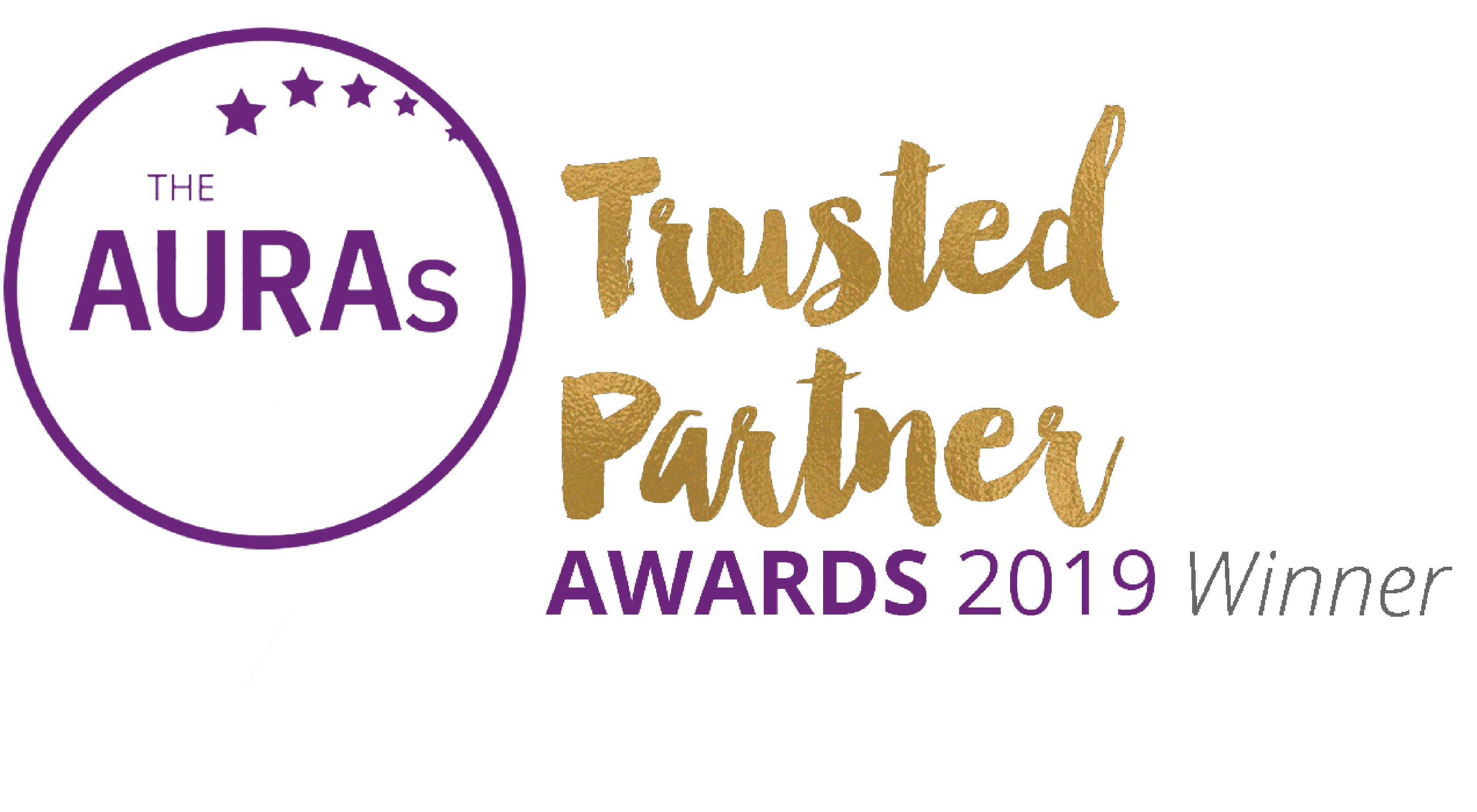 Winner Trusted Partner award 2019 at the AURA awards 2019 (Populus)