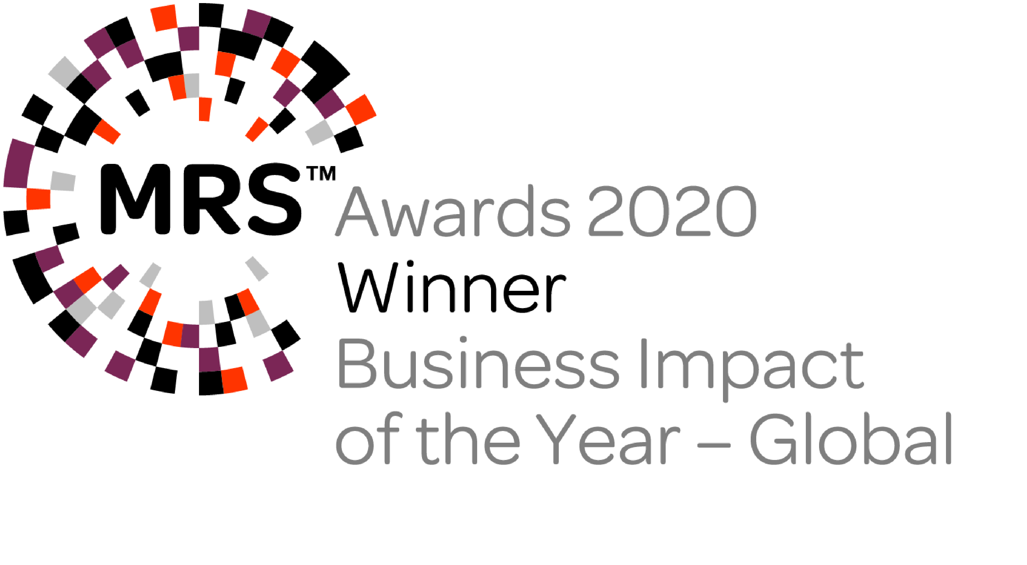 Winner Business Impact of the Year - Global at the MRS Awards 2020 (NATO & Yonder)